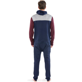 """Mons Royale M's The Monsie One Piece Burgundy/Grey Marl/Navy"""